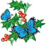 """Набор для вышивания крестом Каролинка """"Бабочки на смородине"""""""