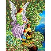 """Набор для вышивания бисером Каролинка """"Ангел и дети"""""""