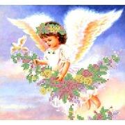 """Набор для вышивания бисером Каролинка """"Парящий ангел"""""""