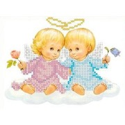 """Набор для вышивания бисером Каролинка """"Два ангелочка"""""""