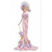 """Набор для вышивания бисером Каролинка """"Дама в розовом"""""""