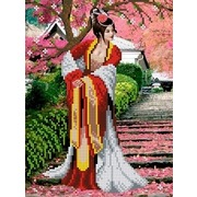 """Набор для вышивания бисером Каролинка """"Японский сад"""""""