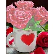 """Набор для вышивания бисером Каролинка """"Розы для любимой"""""""
