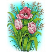 """Набор для вышивания бисером Каролинка """"Тюльпаны"""""""