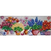 """Ткань с рисунком для вышивки бисером Конёк """"Цветочный ряд"""""""