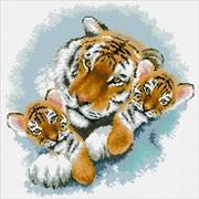"""Набор для выкладывания мозаики Паутинка """"Тигриная семейка"""""""