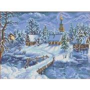 """Канва с нанесенным рисунком Каролинка """"Зимний вечер"""""""