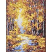 """Канва/ткань с нанесенным рисунком Каролинка """"Осенние краски"""""""