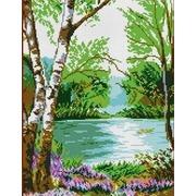 """Канва/ткань с нанесенным рисунком Каролинка """"У реки"""""""