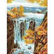 """Канва/ткань с нанесенным рисунком Каролинка """"Водопад"""""""