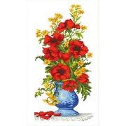 """Канва с нанесенным рисунком Каролинка """"Маки в вазе"""""""