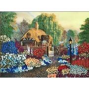 """Набор для вышивания лентами Каролинка """"Цветы у дома"""""""