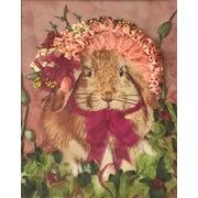 """Набор для вышивания лентами Каролинка """"Нарядный кролик"""""""