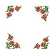 """Набор для вышивания крестом Каролинка """"Маки"""" салфетка"""