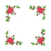 """Набор для вышивания крестом Каролинка """"Розы"""" салфетка"""