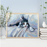 """Набор для выкладывания мозаики Алмазная живопись """"Кот под одеялом"""""""
