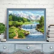 """Набор для выкладывания мозаики Алмазная живопись """"Полдень у реки"""""""