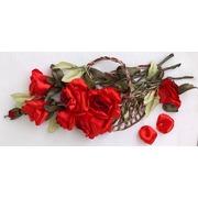 """Набор для вышивания лентами Любава """"Красные розы в корзине"""""""