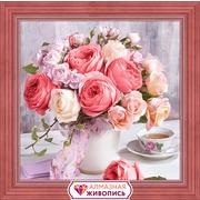 """Набор для выкладывания мозаики Алмазная живопись """"Пионы и розы"""""""