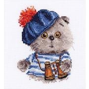 """Набор для вышивания крестом Алиса """"Басик моряк"""""""