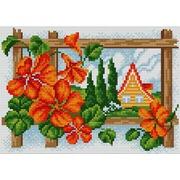 """Набор для выкладывания мозаики Вышиваем бисером """"Яркие цветы"""""""