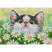 """Набор для выкладывания мозаики Вышиваем бисером """"Кот в ромашках"""""""