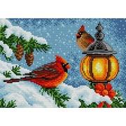 """Набор для выкладывания мозаики Вышиваем бисером """"Новогодние кардиналы"""""""