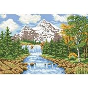 """Канва с нанесенным рисунком Каролинка """"Речка в лесу"""""""