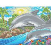 """Канва с нанесенным рисунком Каролинка """"Дельфин"""""""