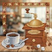 """Ткань с рисунком для вышивки бисером М.П. Студия """"Аромат кофе"""""""