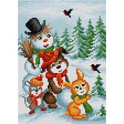 """Набор для выкладывания мозаики Вышиваем бисером """"Рождественские зверята"""""""