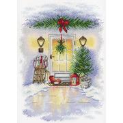 """Набор для вышивания крестом М.П. Студия """"Новогодняя дверь"""""""