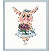 """Набор для вышивания крестом Овен """"Свинка-балерина"""""""