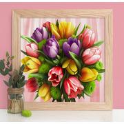 """Набор для выкладывания мозаики Алмазная живопись """"Букет тюльпанов"""""""