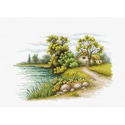 """Набор для вышивания крестом Luca-S """"Пейзаж с озером"""""""
