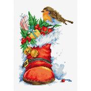 """Набор для вышивания крестом Luca-S """"Рождественский сапожок"""""""