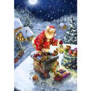 """Набор для вышивания крестом Luca-S """"Дед Мороз"""""""