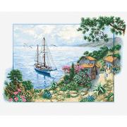 """Набор для вышивания крестом Luca-S """"Морской пейзаж"""""""