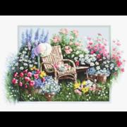 """Набор для вышивания крестом Luca-S """"Цветущий сад"""""""
