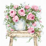 """Набор для вышивания крестом Luca-S """"Цветы на табурете"""""""