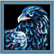 """Набор для выкладывания мозаики Алмазная живопись """"Неоновый орёл"""""""