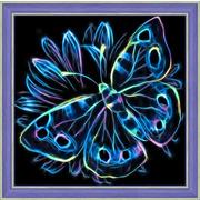 """Набор для выкладывания мозаики Алмазная живопись """"Неоновая бабочка"""""""