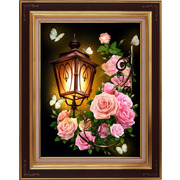 """Набор для выкладывания мозаики Алмазная живопись """"Фонарь в розах"""""""