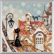 """Набор для выкладывания мозаики Риолис """"Город и кошки. Зима"""""""