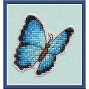 """Набор для вышивания крестом Овен """"Значок. Голубая Морфа"""""""