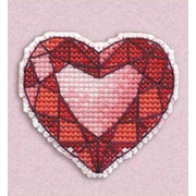 """Набор для вышивания крестом Овен """"Значок. Сердце"""""""