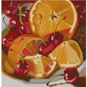 """Ткань с рисунком для вышивки бисером Конёк """"Апельсин"""""""