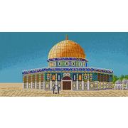"""Ткань с рисунком для вышивки бисером Конёк """"Мечеть Аль-Акса"""""""