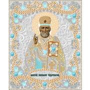 "Ткань с рисунком для вышивки бисером Конёк ""Святой Николай Чудотворец"""