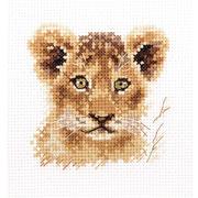 """Набор для вышивания крестом Алиса """"Животные в портретах. Львенок"""""""